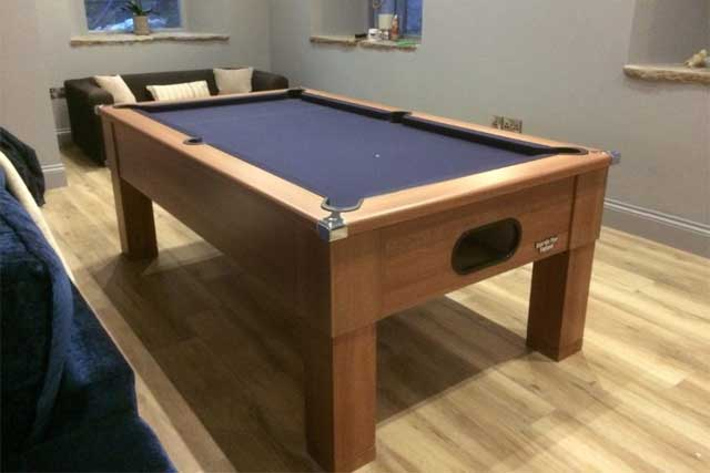 French Walnut Square Leg Pool Table