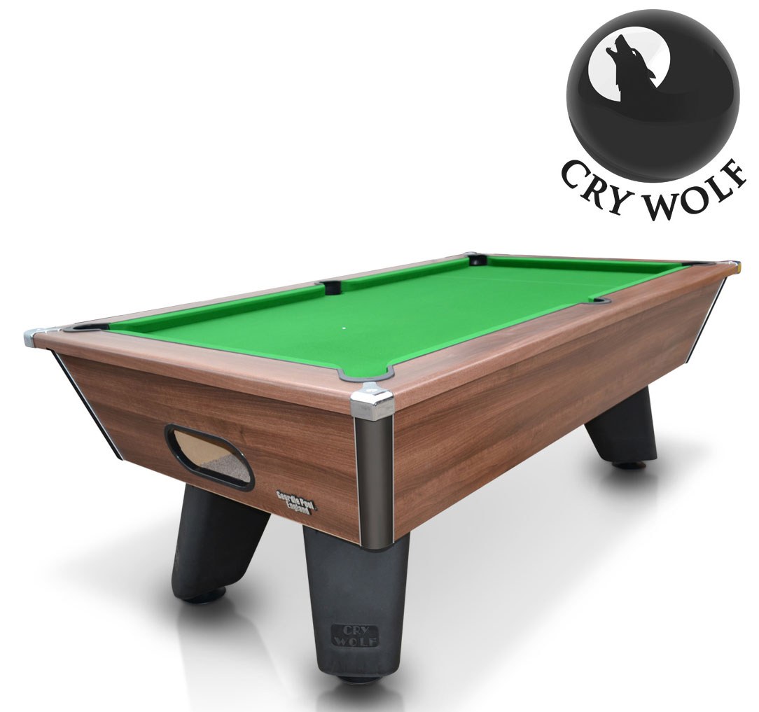 Cry Wolf Outdoor 7ft Slate Bed Pool Table Dark Walnut