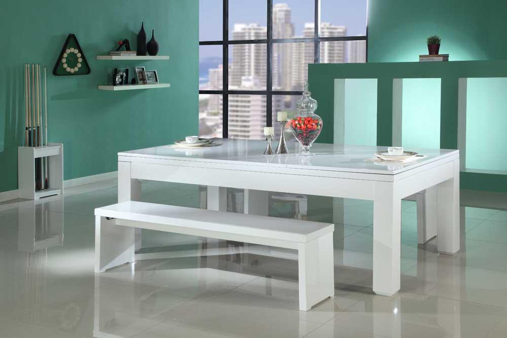geordie pool & Gloss White Pool Dining Table
